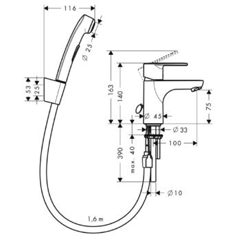 Схема отвода воды со смесителя